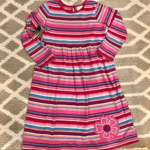 Hanna Andersson pink cute rainbow stripe dress 10